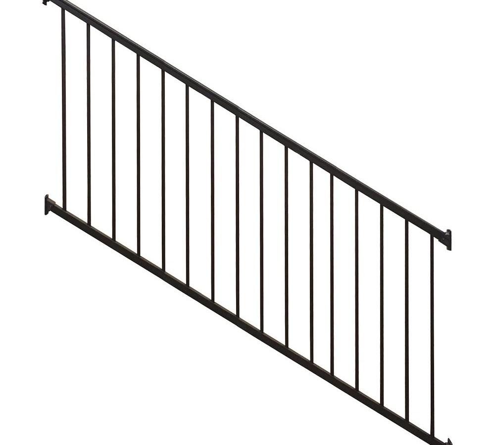 Weatherables Stanford 36 In H X 96 In W Textured Black Aluminum | Black Aluminum Stair Railing | Exterior | Modern | Steel | Cable Rail | Deckorators