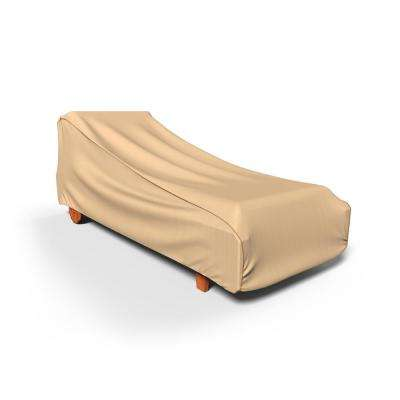 home depot outdoor patio chair covers hanging ebay chaise waterproof furniture the rust oleum neverwet medium tan lounge cover