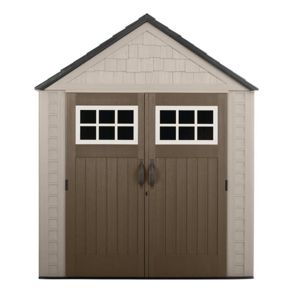 Rubbermaid Big Max 7 Ft. 1 In. X 2 Resin Storage Shed-1887154 - Home Depot