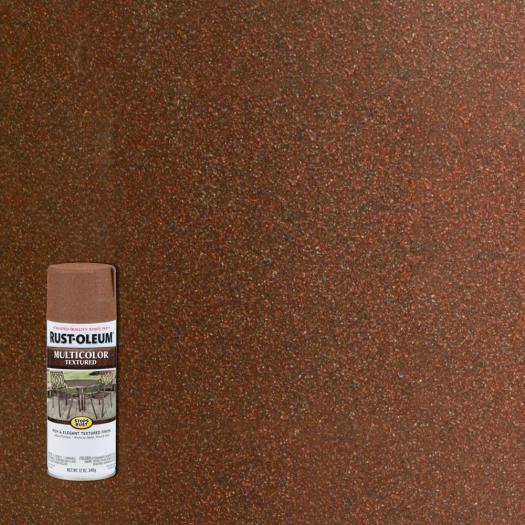 Rust Oleum Stops 12 Oz Protective Enamel Rustic Umber Multi Colored Textured