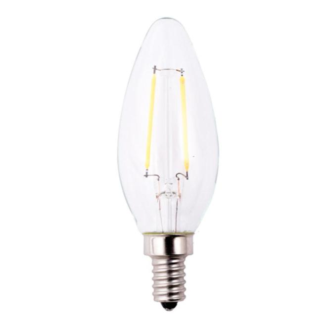 Ecosmart 60w Equivalent Soft White Classic Glass B11 Filament E12 Energy Star And Dimmable Led Light