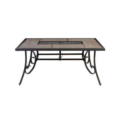 patio chair glides rectangular canada handicap sliding bath dining tables the home depot crestridge outdoor table