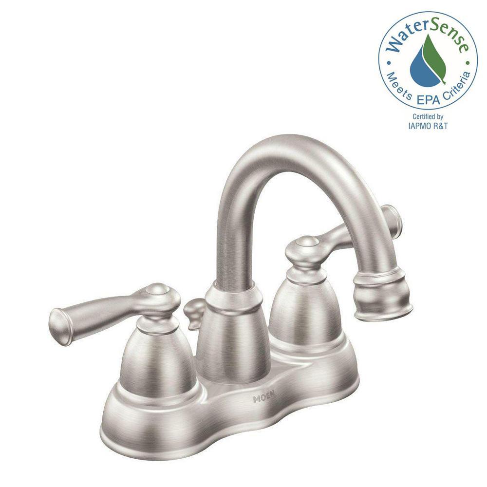 MOEN Banbury 4 in Centerset 2Handle Bathroom Faucet in