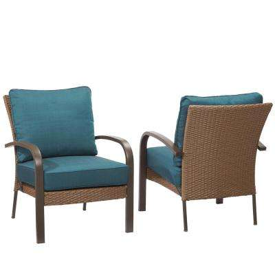 steel lounge chair target round dorm stackable outdoor chairs patio corranade wicker with charleston cushion 2 pack