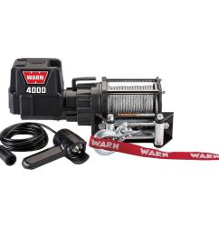 warn 4000 dc trailer loading utility winch [ 1000 x 1000 Pixel ]