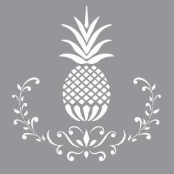 pineapple stencil americana decor stencils posh