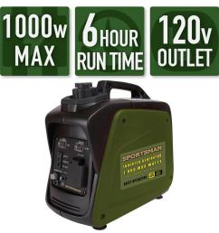 sportsman 1 000 800 watt gasoline powered digital inverter generator [ 1000 x 1000 Pixel ]
