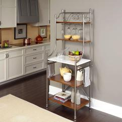 Bakers Racks For Kitchen Hotels With Full Kitchens In Orlando Florida Home Styles The Orleans Vintage Caramel Baker S Rack 5060 65