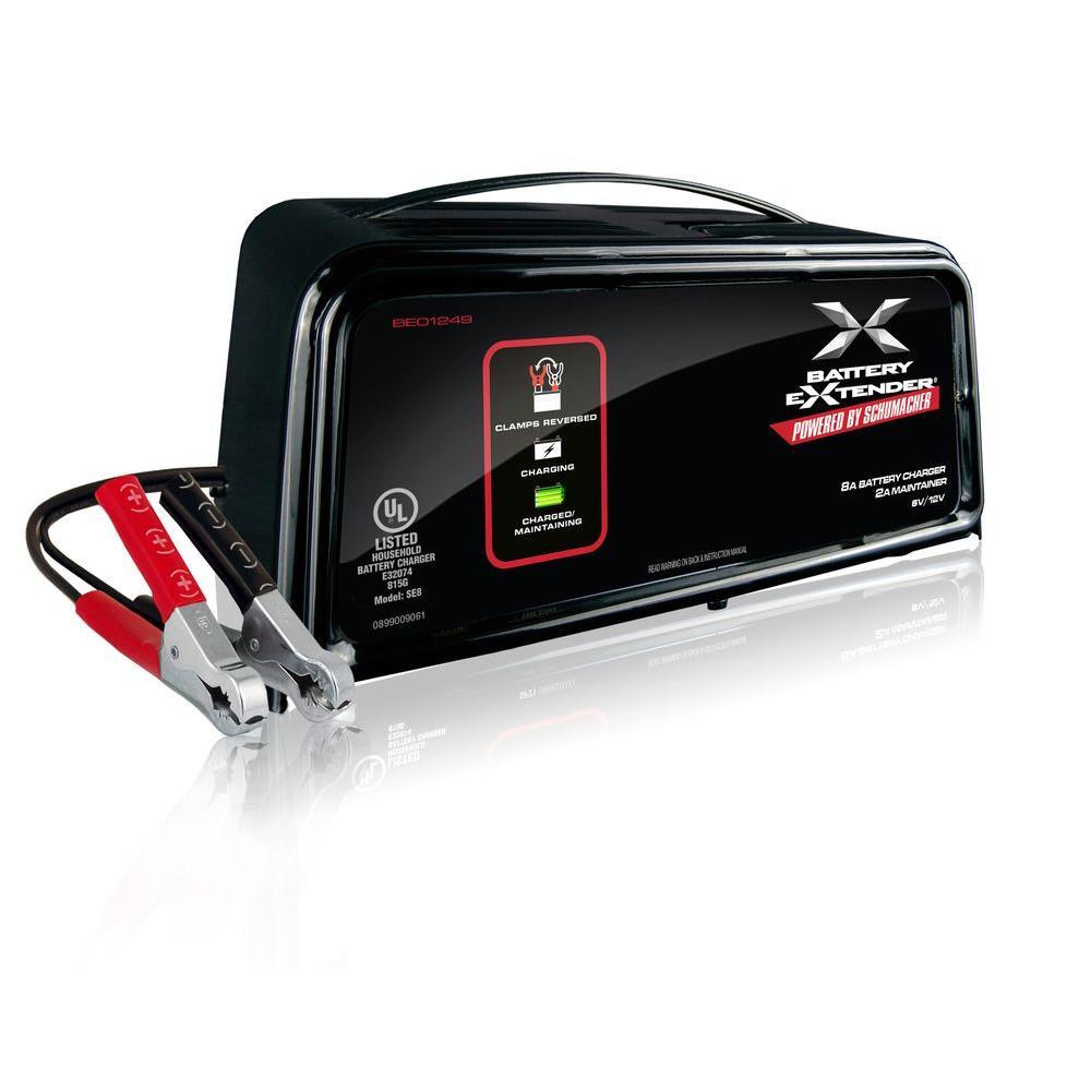 hight resolution of schumacher battery extender 6 volt or 12 volt 8 amp battery charger