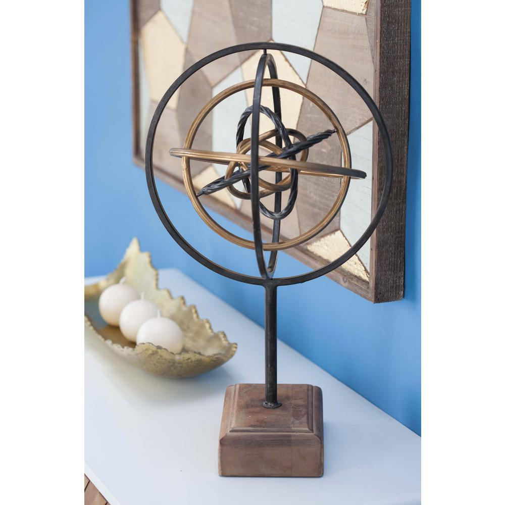 medium resolution of atom model decorative sculpture in black brown and gold 84241 the home depot
