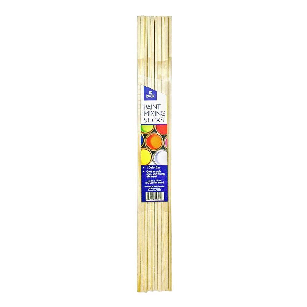 1 Gal Paint Mixing Craft Sticks 10 Pack Hdps 10 The Home Depot