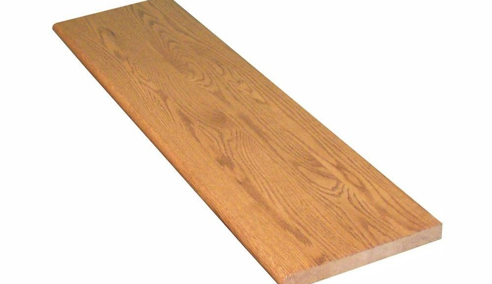 Stairtek 1 In X 11 5 In X 36 In Prefinished Gunstock Red Oak   Pre Stained Stair Treads   Stain Wood   Luxury   Natural Wood   Step   Gray Wood