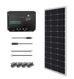 100 watt 12 volt monocrystalline solar starter kit for off grid solar system [ 1000 x 1000 Pixel ]