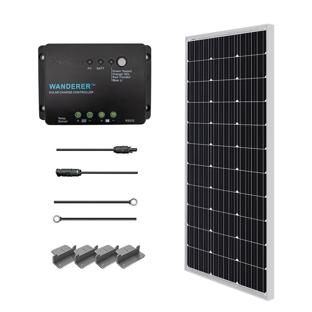 hight resolution of 100 watt 12 volt monocrystalline solar starter kit for off grid solar system