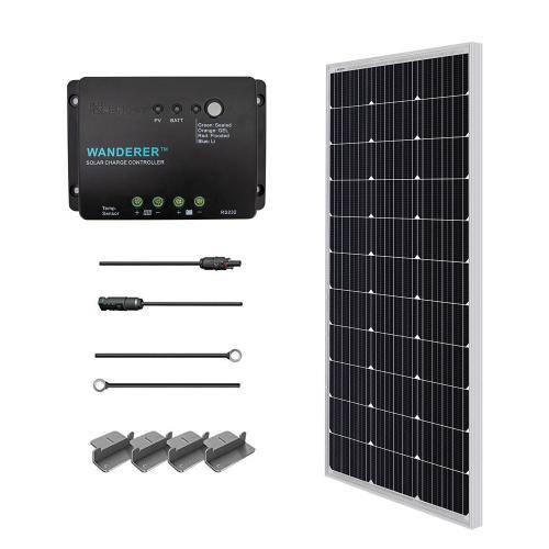 small resolution of 100 watt 12 volt monocrystalline solar starter kit for off grid solar system