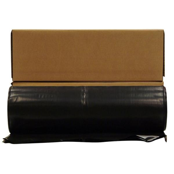 Husky 20 Ft. X 100 Black 10 Mil Plastic Sheeting 12-rolls Pallet -cf1020b
