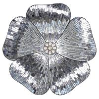 River of Goods Gray Mosaic Glass Flower Wall Decor-16911 ...