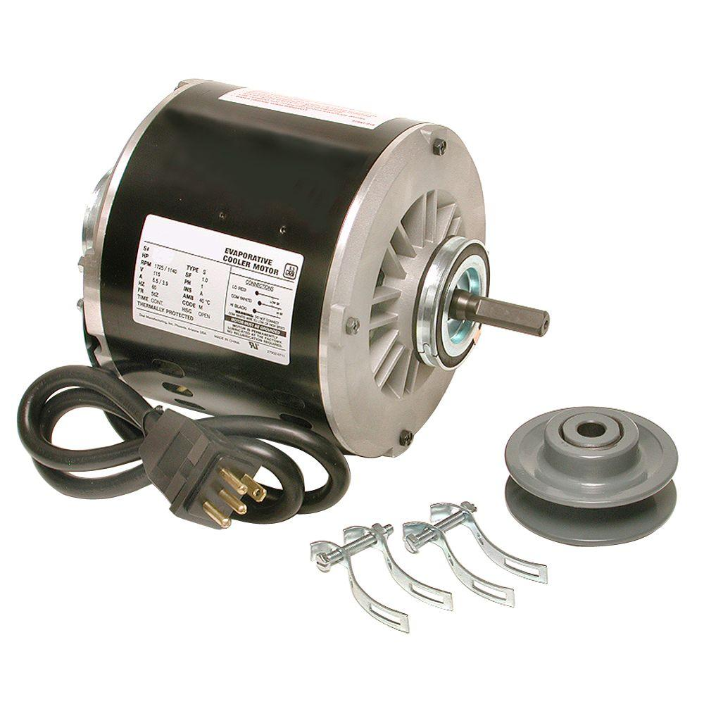 medium resolution of dial 2 speed 1 2 hp evaporative cooler motor kit 2548 the home depot2 speed 1