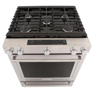 kitchen aid stove cabinets drawers kitchenaid 5 8 cu ft slide in gas range with self cleaning 15