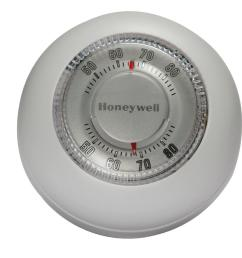 honeywell round white low voltage 24 volt 1 stage heat only wall thermostat [ 1000 x 1000 Pixel ]