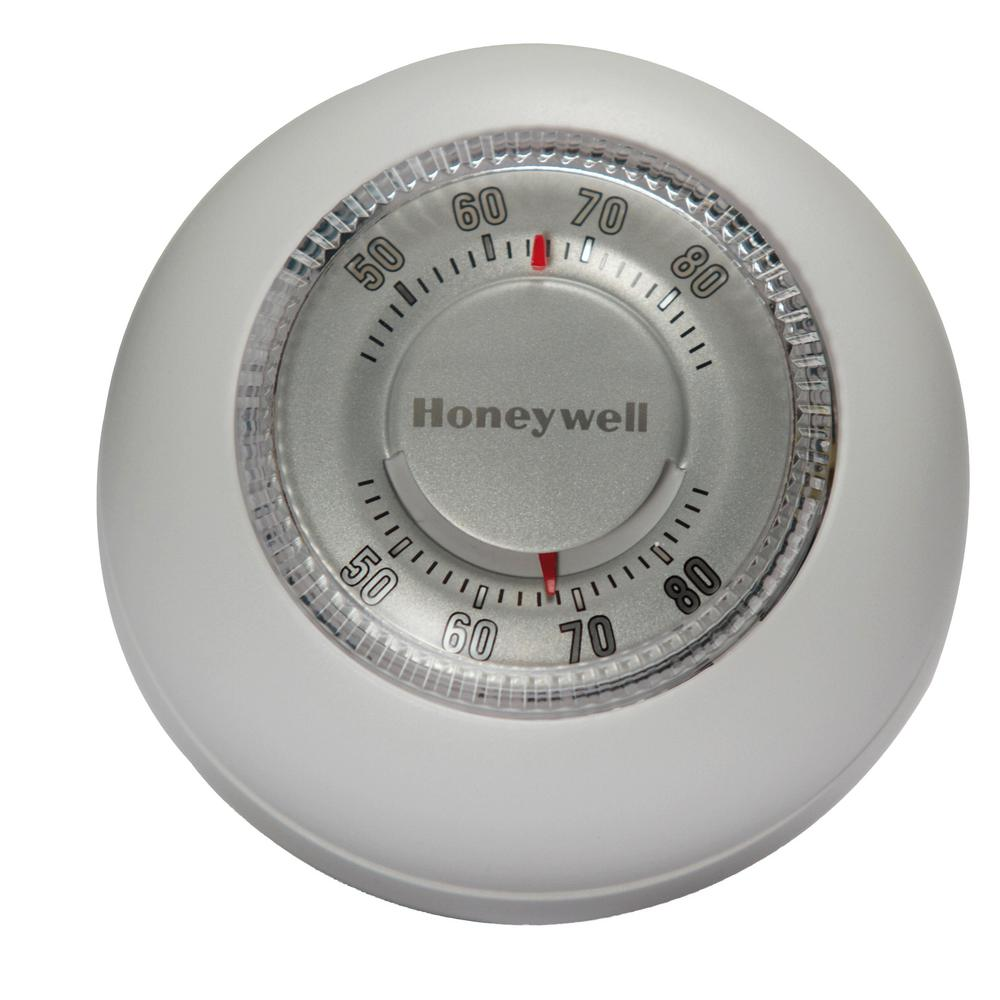 medium resolution of honeywell round white low voltage 24 volt 1 stage heat only wall thermostat