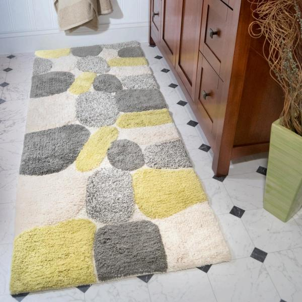 Chesapeake Merchandising Pebbles New Willow 24 In X 60 In Bath Rug Runner 45092 The Home Depot