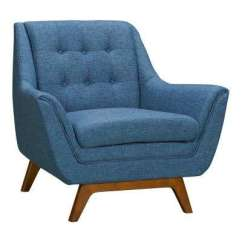 Designer Chairs For Living Room Best Colors To Paint A With Brown Furniture Blue Mid Century Modern The Janson Fabric Sofa Chair