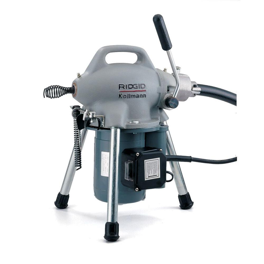 hight resolution of 115 volt k 50 sectional drain cleaner machine for 1 1 4 in to 4 in drain lines