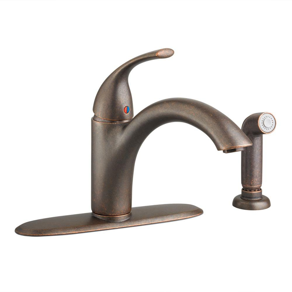 american standard quince kitchen faucet electrical outlets oil rubbed bronze