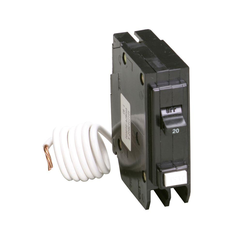 Singlepole Ground Fault Circuit Breakergfcb115cs The Home Depot