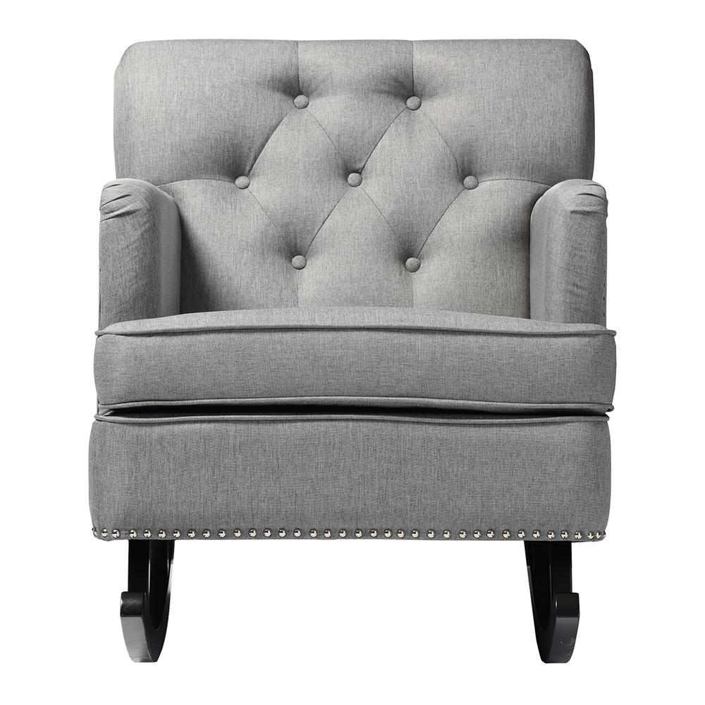 Rocking Accent Chairs Baxton Studio Bethany Contemporary Gray Fabric Upholstered Rocking