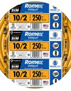 solid romex simpull cu nm   also southwire ft  wire rh homedepot