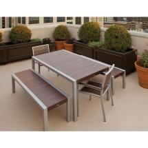 Outdoor Patio Dining Set with Bench