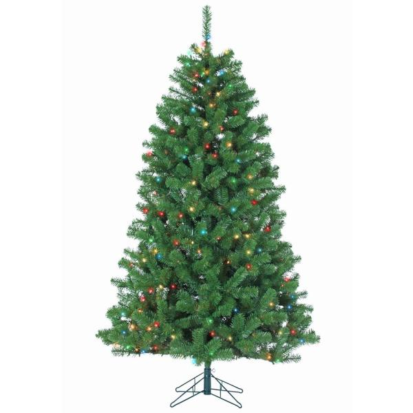 Home Accents Holiday 7 Ft. Feel-real Downswept Douglas Slim Artificial Christmas Tree-pedd1-527