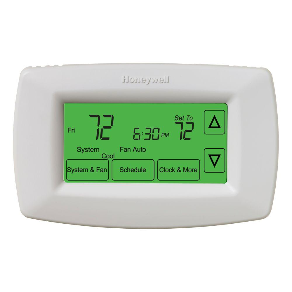 medium resolution of honeywell 7 day programmable touchscreen thermostat