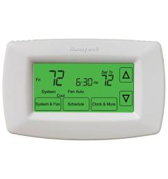 honeywell 7 day programmable touchscreen thermostat rth7600d the honeywell switching relay wiring diagram honeywell 7 day [ 1000 x 1000 Pixel ]