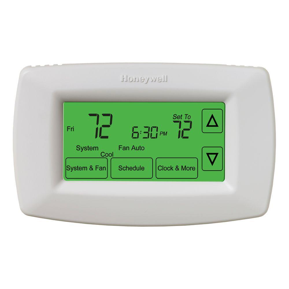 medium resolution of honeywell 7 day programmable touchscreen thermostat