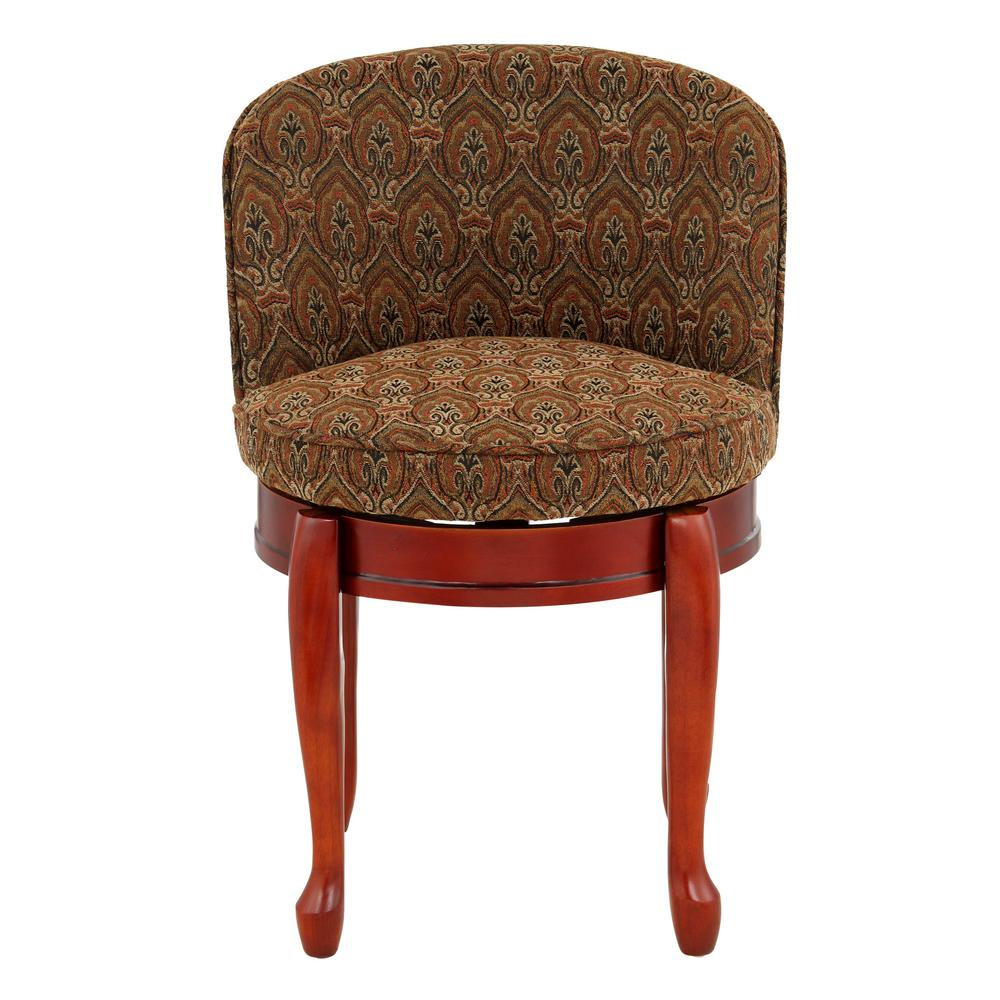 swivel vanity chair cheap metal kitchen home decorators collection delmar tapestry high back stool