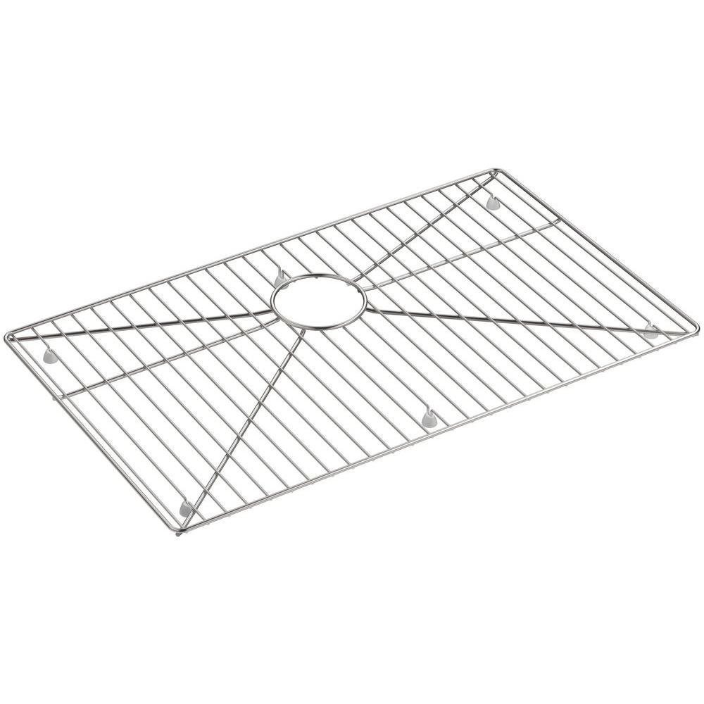 KOHLER Indio 24.375 in. x 15 in. Stainless Steel Sink Rack