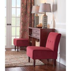 Fabric Accent Chairs Living Room Print Linon Home Decor Coco Red Chair 36096red 01 Kd U The