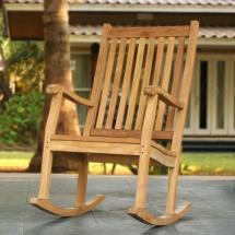 Tortuga Outdoor Jakarta Teak Wood Patio Rocking Chair-tk