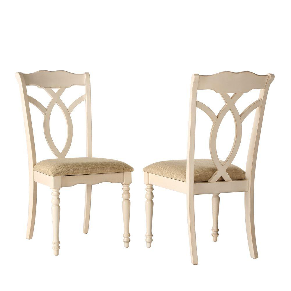 Antique White Dining Chairs Rosemont Antique White Wood Dining Chair Set Of 2