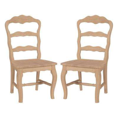 unfinished ladder back chairs chair tai chi wood side dining kitchen versailles set of 2
