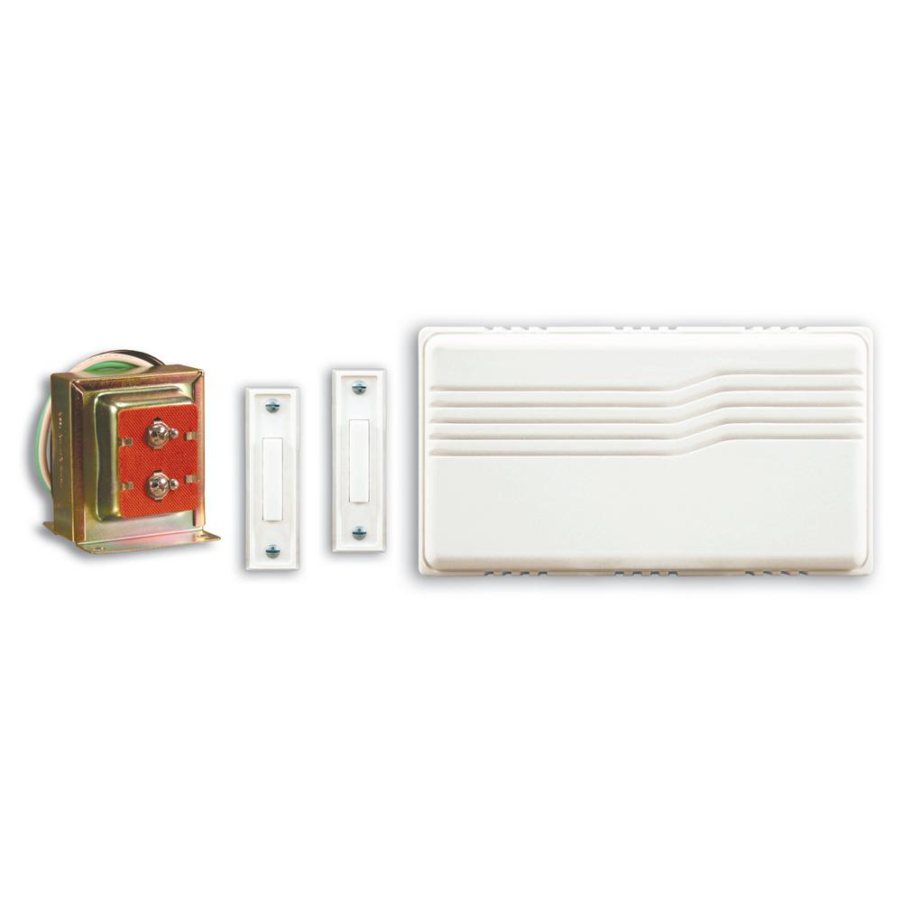 hight resolution of heath zenith wired door chime kit with mixed push buttons