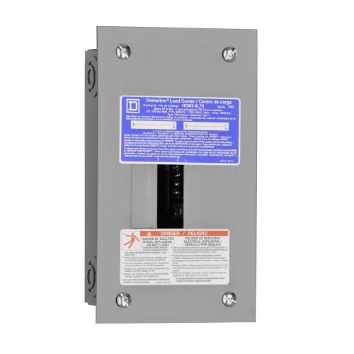 small resolution of square d homeline 70 amp 2 space 4 circuit indoor flush mount main lug