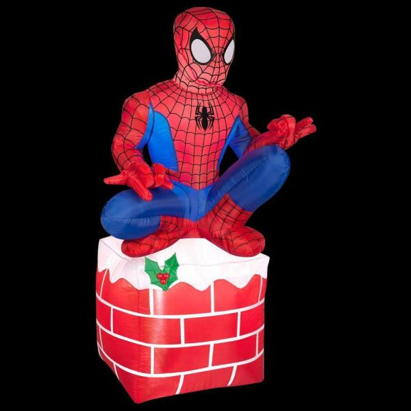 Gemmy 3.5 Ft. Led Inflatable Outdoor Spider-man Sitting