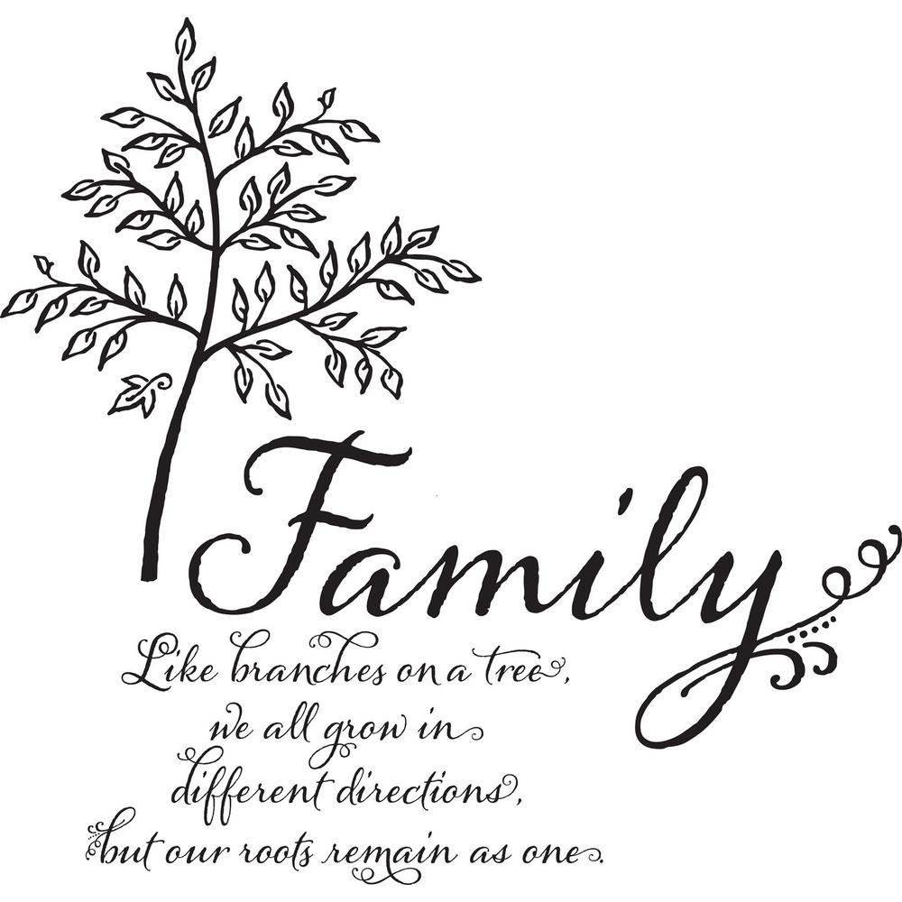 WallPOPs Multi-Color Family Tree Wall Quote Decal-DWPQ2760