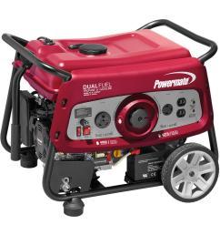 powermate 3500 watt dual fuel electric start powered portable generator with ohv engine 49 [ 1000 x 1000 Pixel ]