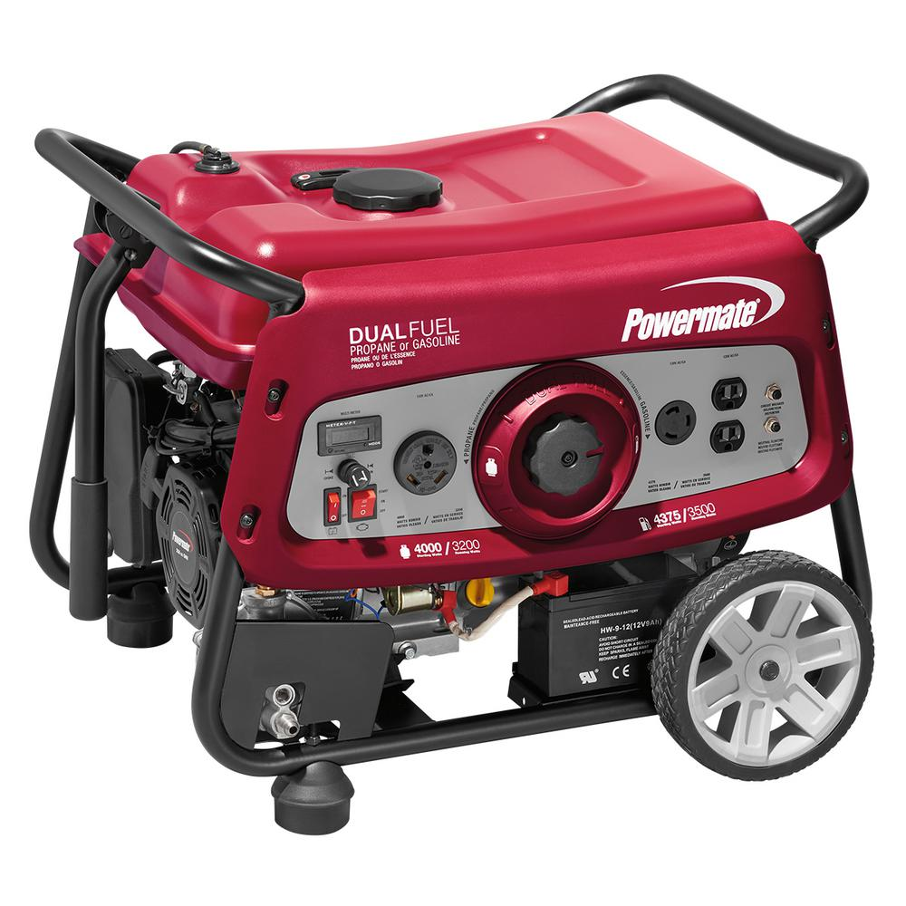 hight resolution of powermate 3500 watt dual fuel electric start powered portable generator with ohv engine 49