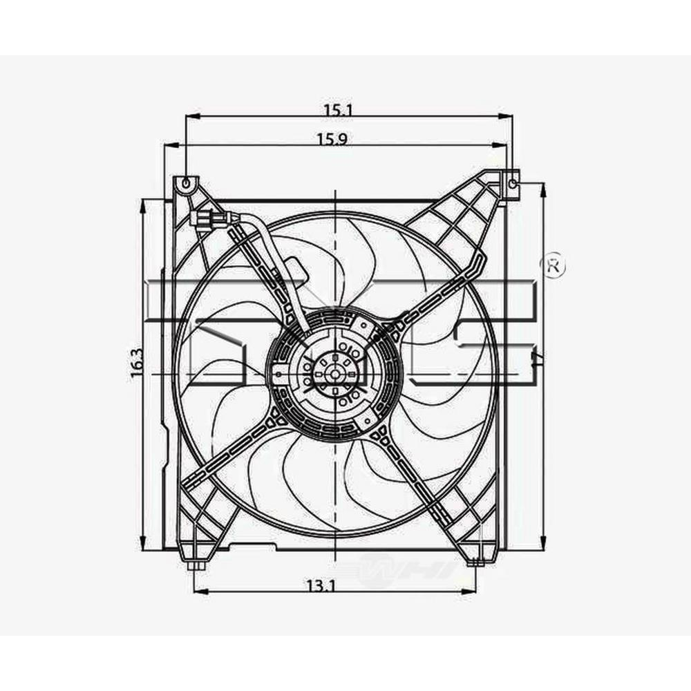 TYC Engine Cooling Fan Assembly 2001-2004 Hyundai Santa Fe